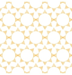 Abstract textile golden suns geometric seamless vector