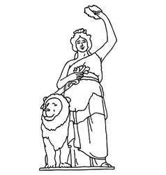 Bavaria statue in munich vector