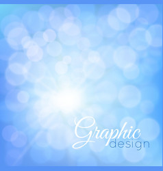 blue glowing background bokeh vector image