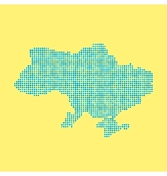 blue ukrainian map from dots vector image vector image