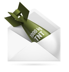 Bomb mail vector image