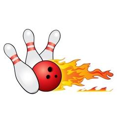 Bowling symbol vector image vector image