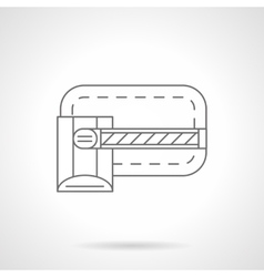 Closed barrier flat line icon vector