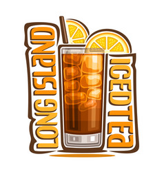 Cocktail long island iced tea vector
