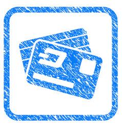 Dash credit cards framed stamp vector