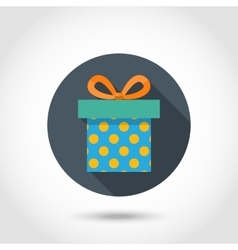 Gift box icon with shadow vector