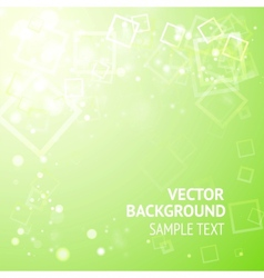 Green background with squares vector image vector image