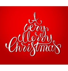 Hand drawn holiday lettering design Christmas vector image vector image