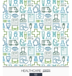 Healthcare wallpaper Medical seamless pattern vector image vector image