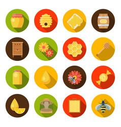 honey apiary set vector image