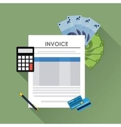 Invoice design business icon finance concept vector