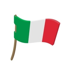 Italy flag cartoon style vector image