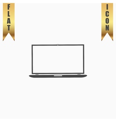 Laptop flat icon vector