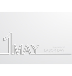 Modern 1 may international labour day vector