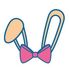 Rabbit ears icon vector