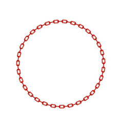 Red chain in shape of circle vector
