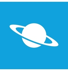 Saturn icon simple vector