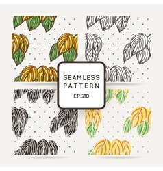 Set of four seamless decorative patterns with vector image vector image