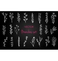 Set of vintage floral elements Decoration vector image vector image
