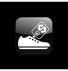 shoe sale icon vector image vector image