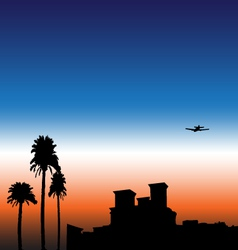 Sunset City vector image vector image