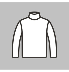 Turtleneck icon on background vector image vector image