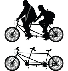 Two-seater bike vector
