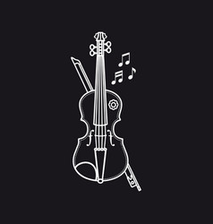 violin musical instrument childs toy vector image
