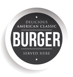 Burger vintage black stamp vector image