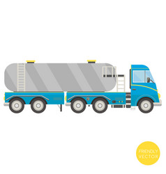 cartoon transport tank truck vector image