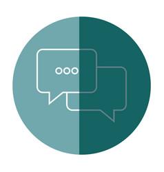 Bubble speak conversation message dialog vector