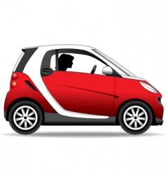 small car vector image
