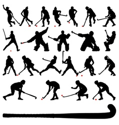 Field hocky players vector