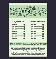Coffee menu hand vector