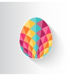 Colorful patterned easter egg vector