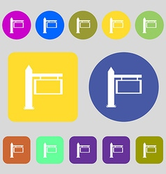 Information road sign icon sign 12 colored buttons vector