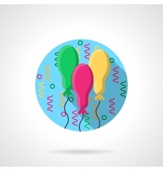 Bright oval balloons round color icon vector