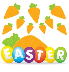 Easter day with carrot vector