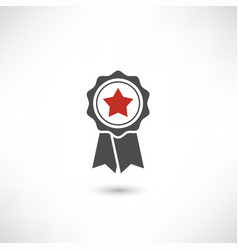 badge star red vector image