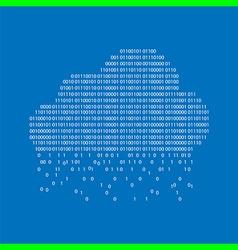 binary cloud concept vector image vector image