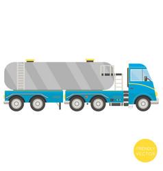 cartoon transport tank truck vector image vector image
