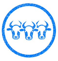 Cattle rounded grainy icon vector