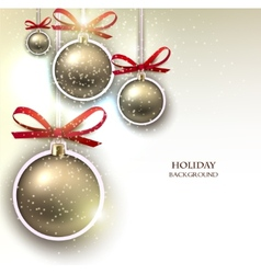 Christmas background with christmas balls and vector