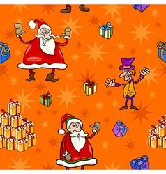 christmas cartoon seamless pattern paper vector image vector image