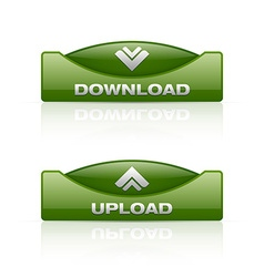 Download and upload buttons vector image
