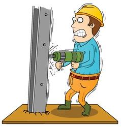 Drilling iron bar vector