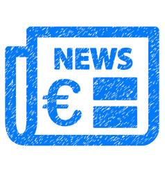 Euro newspaper grunge icon vector