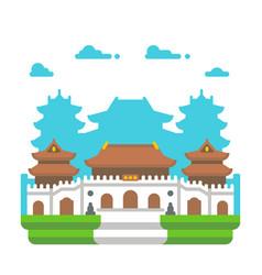 Flat design jingan temple shanghai vector