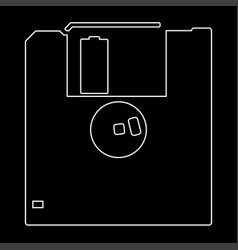 floppy disk the white path icon vector image vector image