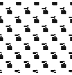 Hand stealing e-mail pattern simple style vector